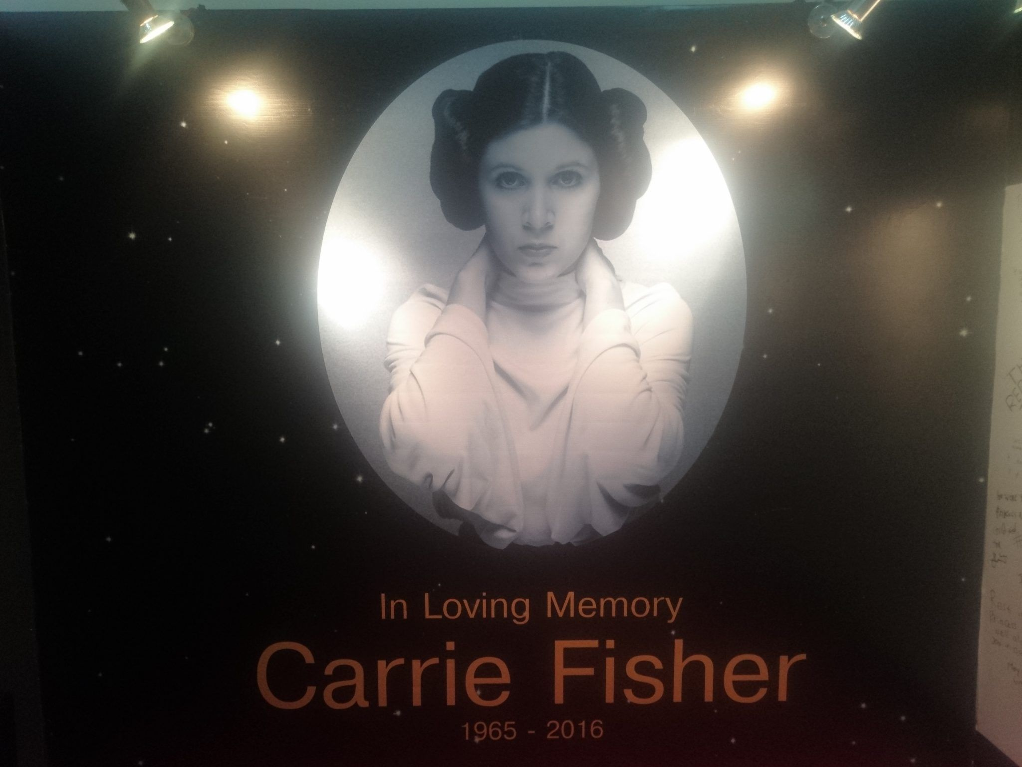 In Loving Memory Carrie Fisher 1965-2016