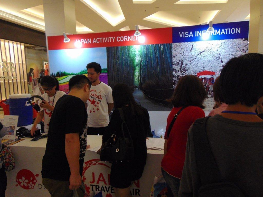 Pengunjung mencari Informasi mengenai Visa ke Jepang